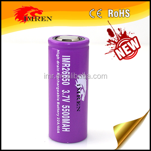 IMR 26650 5500 mAh 60A Battery is the newest 26650 battery