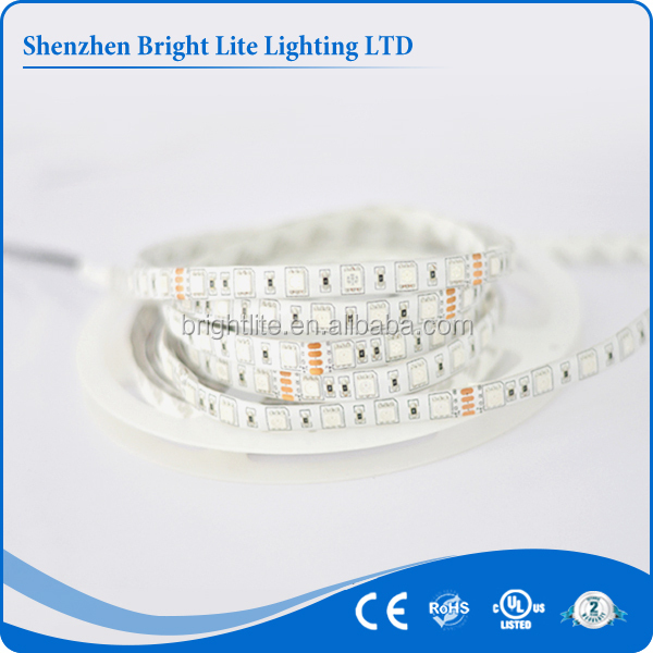 5050 Waterproof IP65 RGB 60LED UL certificate flexible led strip light