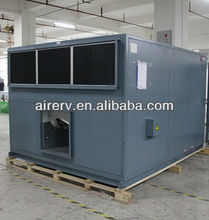 cross flow air exchange system heat exchanger for air handling unit with plates