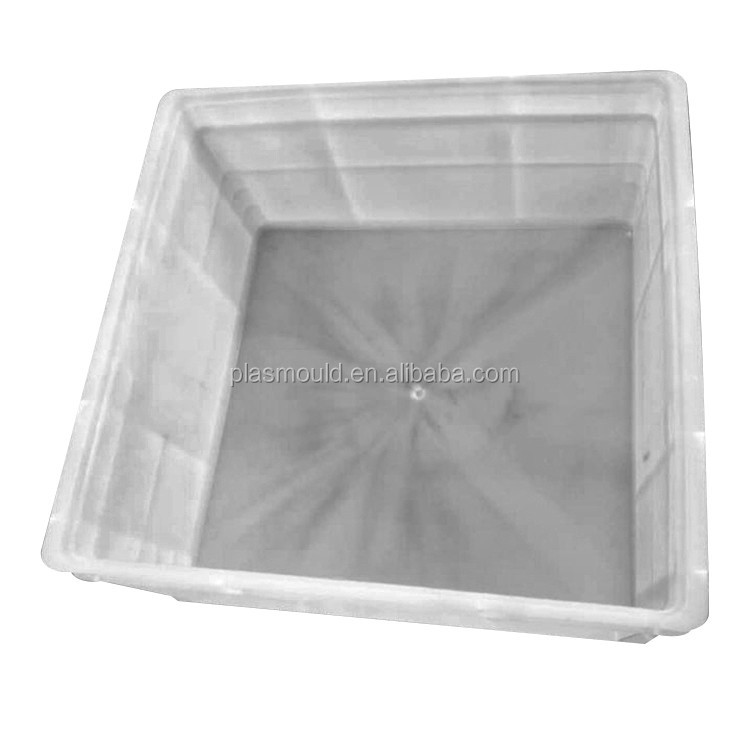 custom hot runner injection crate mold plastic tote care mould