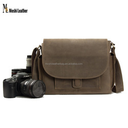 JW826 Genuine Leather Digital Camera Bag DSLR/SLR Professional Camera Bag Insert Padded Leather Camera Bag