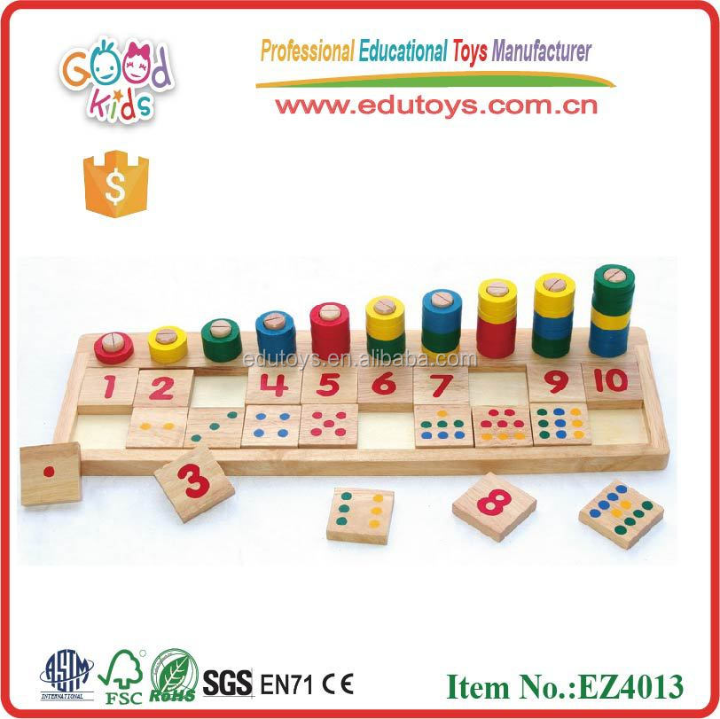 Educational Toys Product : Wooden toys educational numer puzzle abacus buy