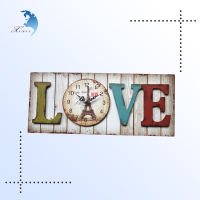 Antique London Style Printed Photo Frame Mini Digital/Gear Decorative Round/Square Kids Wooden Pendulum Wall Floor Clock