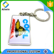 Custom wholesale factory made epoxy laminated key chain