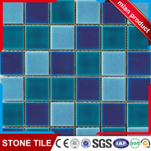 Cheap price 300x300x6mm swimming pool tiles green and blue