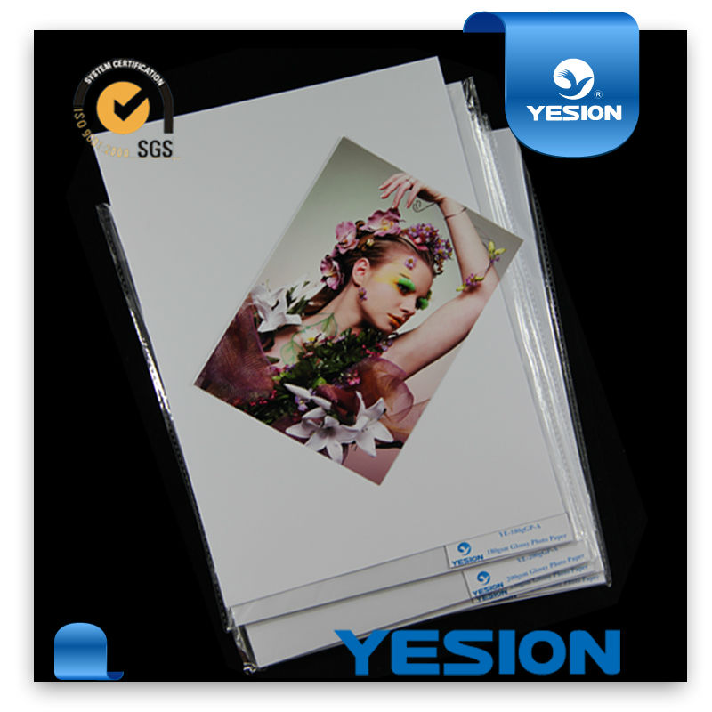 180gr inkjet Hot sell glossy printing photo paper A4 size for all kinds of inkjet printers professional manufacturer