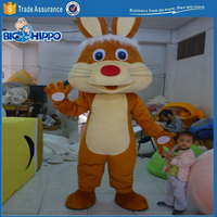 Brown rabbit cure hare children friendly easter bunny holiday event high quality custom mascot costume