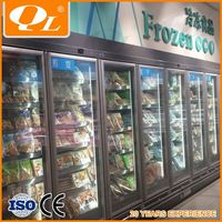 Dairy Food Display Wall Case Refrigeration
