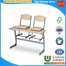 JINHUA factory school furniture desk and chair student table and stool for single adjust desk classroom furniture