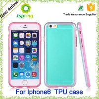 Popular Back case for iphone 6+ transparent PC + TPU Case