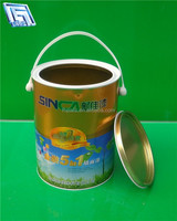 5L top quality mini small round metal tin bucket for engine oil
