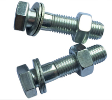 Cold galvanized carbon steel assembled hex bolt with washer and nut