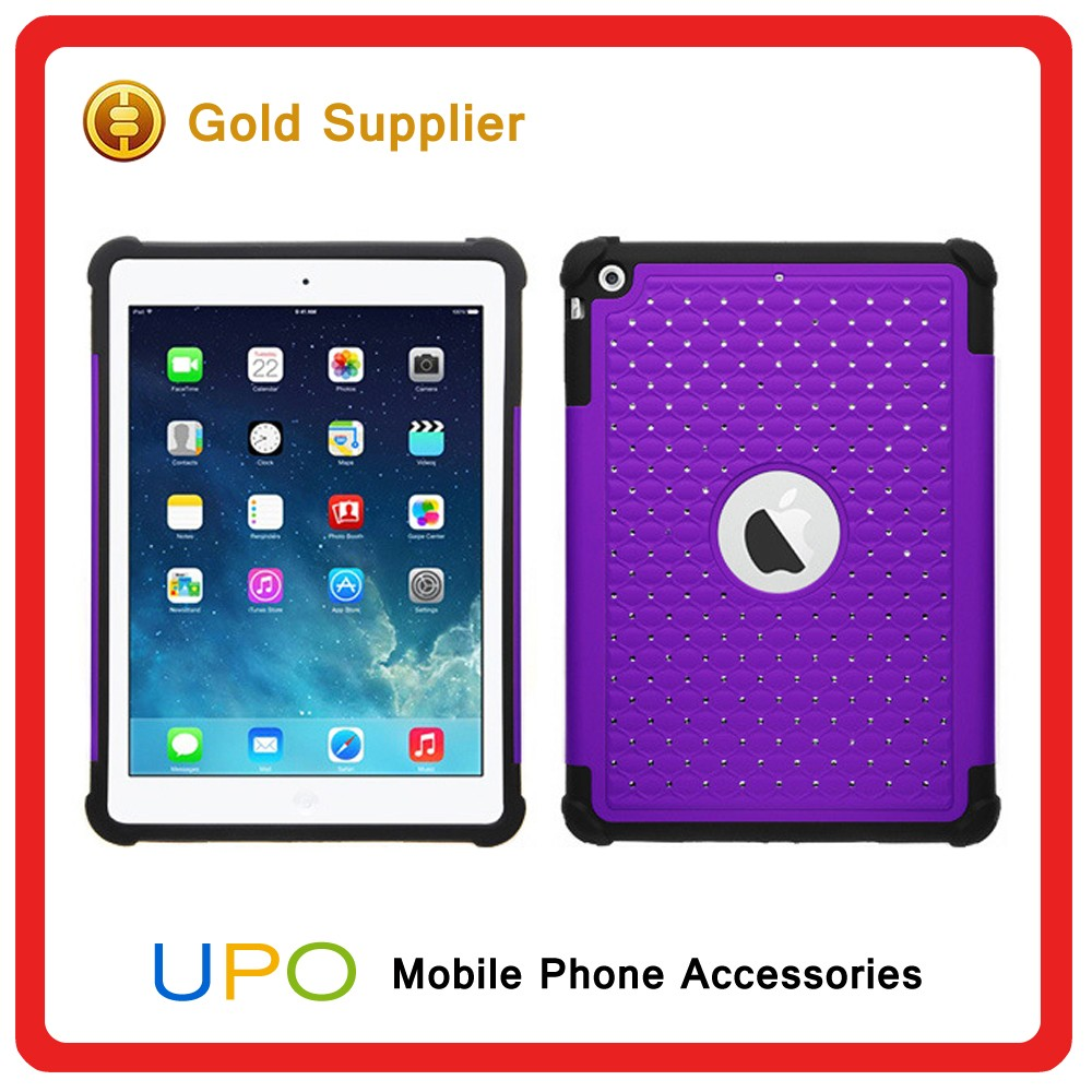 [UPO] Fashionable Custom PC Silicon Starry Dual layer Shell Back Covers Case for iPad 5