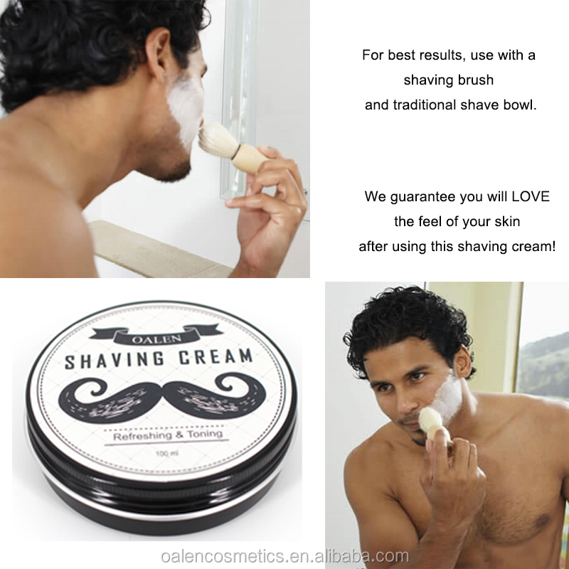 Private Label 100ml Grooming Beards and Mustache Shaving Cream After Shave Cream