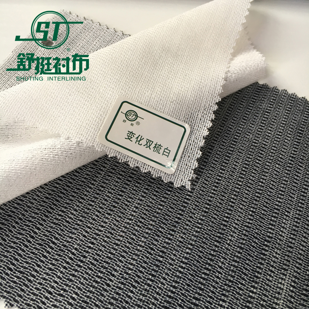 100% Polyester tricot warp knitted interlining fabric for coats