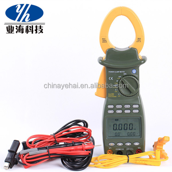 mini harmonic digital handheld power clamp meter