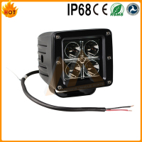 Cheap price best selling led lights IP68 waterproof 6000K 6500k 12w led work light for car truck toyota