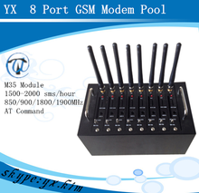 8 sim card box 8 port gsm modem for bulk sms support imei change with usb interface