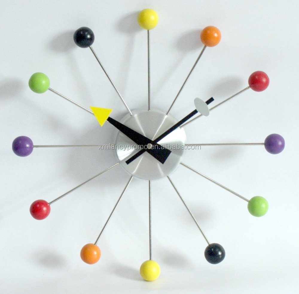 Coloured Balls Home Decorative Wall Clock