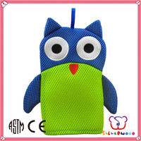 SEDEX Factory custom wholesale cute design child bath gloves