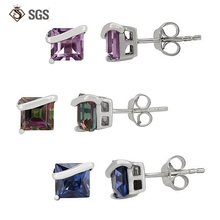 Custom color Gemstone Wholesale sterling silver earring hooks