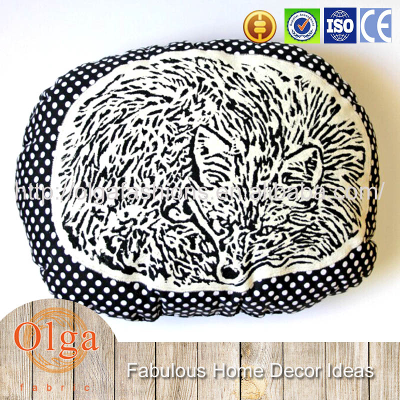 hollow print animal shaped cushion covers