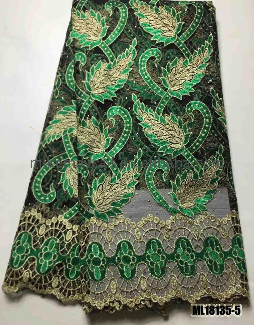 Hot selling African french net lace embroidery mesh african fabric