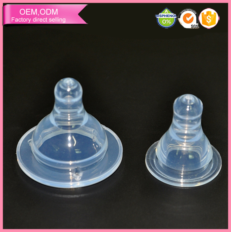eco friendly 100% food grade baby accessories injection silicone nipple