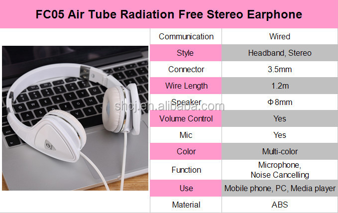 The first type of air tube radiation proof coco phone retro headset for sleep