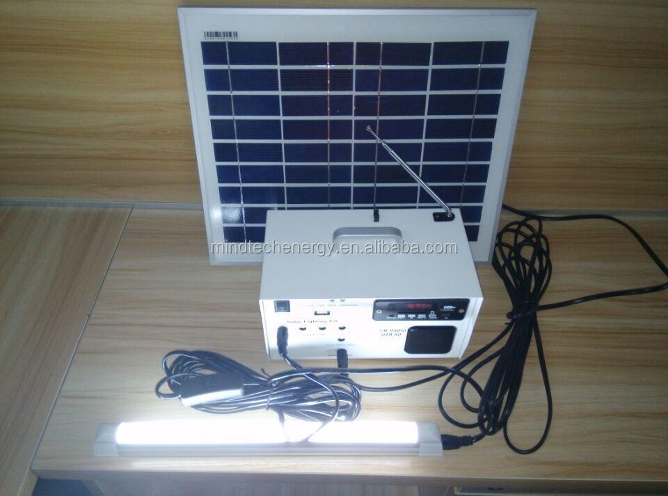 Oem 10 W Solar Plug And Play Portable Lighting System