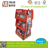 POP Up Corrugated Floor Pallet Display Recycled material supermarket shelf display,cosmetics display