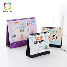 customised desk top table calendar box printing with die cut divider