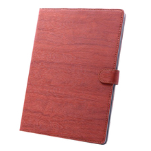 Flip Stand Wooden Pattern Leather Cover Case for iPad Air 5