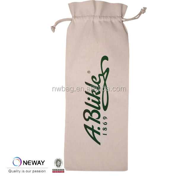 Cheap Wholesale Cotton Wine Bags,Custom Cotton Wine Bags,Logo Printed Cotton Wine Bags