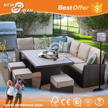 Outdoor Furniture Natural Rattan / Outdoor Sofa Set