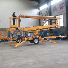 6-18m articulating tow behind man lift trailer mounted boom lift towable cherry picker for sale