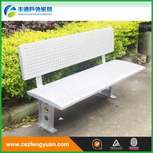 high quality white wrought iron metal garden benches for outdoor