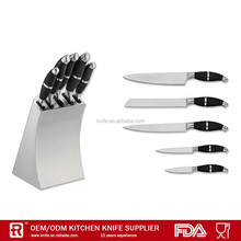 5 pcs stainless steel knife set with a steel block