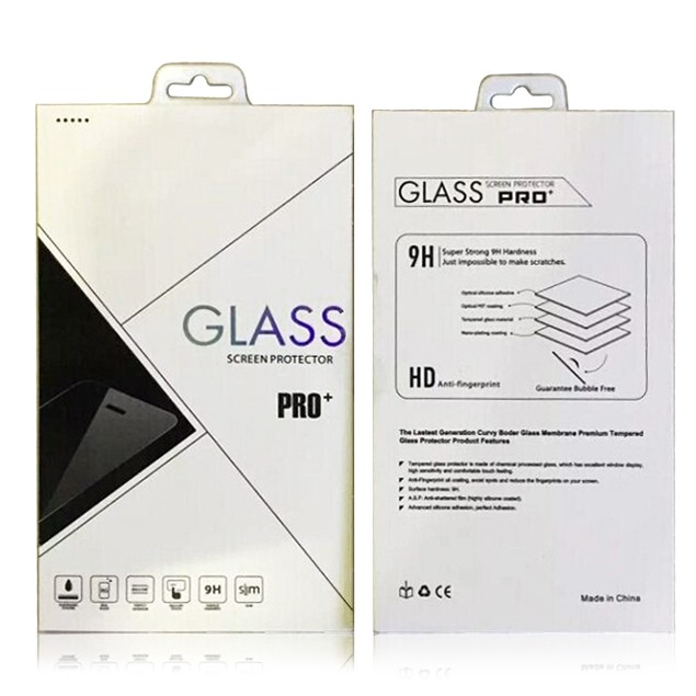 Customized retail screen protector packaging box