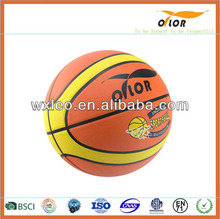 Size 7# custom colorful promotional street rubber basketball ball