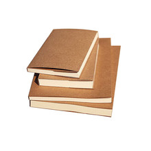 32K A5 Plain Kraft Paper Cover Notebook Sketch <strong>Book</strong> With Blank Pages