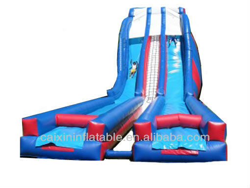 Inflatable water slide 2013 new model with lon tunnel slide fro high peak