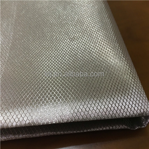 RFID Blocking Metallic Fabric/ electrical Military Grade diamond fabric for lining