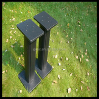 China Supplier Professional Making Iron Black Glass TV Stand ISO Pass