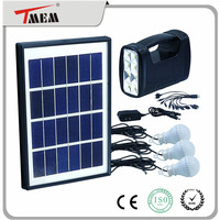 Popular 12v soarl led lights kit 5w soalr lighting kit portable solar power system