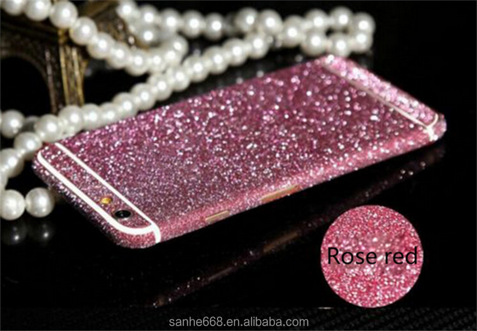 Full body mobile phone sticker 3M diy mobile phone pear sticker glitter wrap skin decorations cell phone sticker for iPhone 6 6s