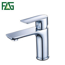 FLG China new designs durable Chrome plated long neck basin faucets