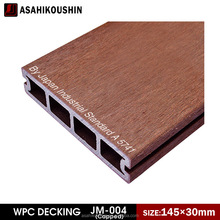 Capped hollow stain-resistance 145*30mm WPC hollow decking