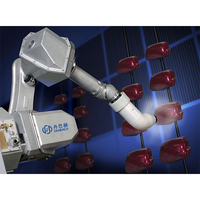 High speed 6 axis spray robotic arm automatic paint spray machine