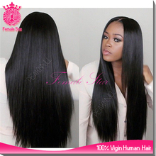 2015 100% Chinese virgin remy human hair lace front wig full lace front wigs